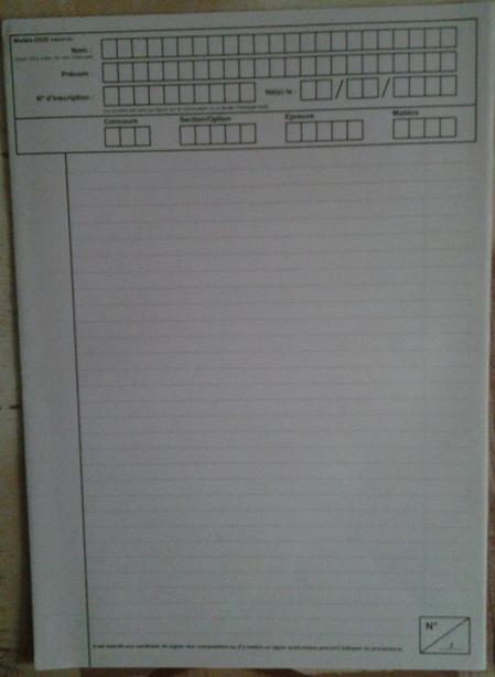 Copie examen concours fonction publique