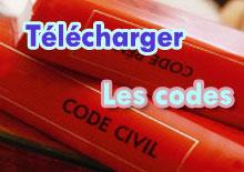 Cliques ici pour télécharger les codes civil, du travail, pénal, maritime, ...