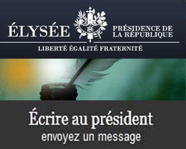 écrire au président de la République
